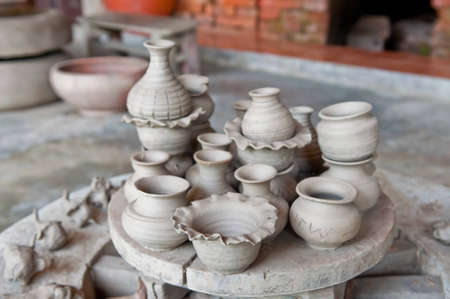 Handmade pottery factory in Thailand.