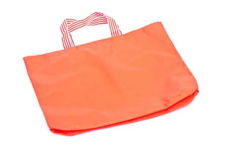orange cotton  bag isolated white background