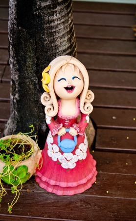Girl clay dolls photo