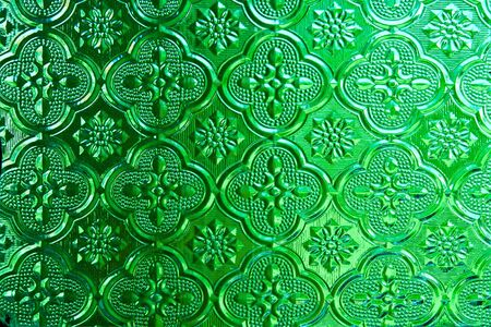 Green of  Stained glass photo