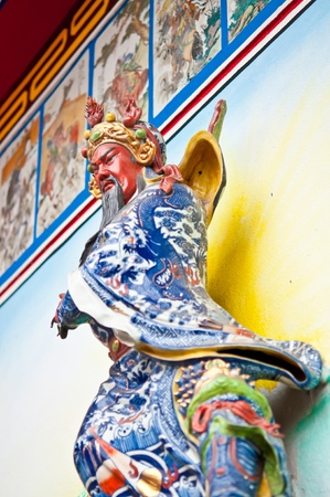 Statue Guan Yu gods in temple. photo