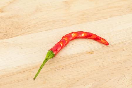 chili on white background. photo