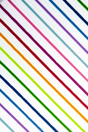 Multicolored net texture isolated on white Stock Photo