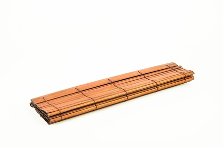 a makisu bamboo-mat on a white background photo