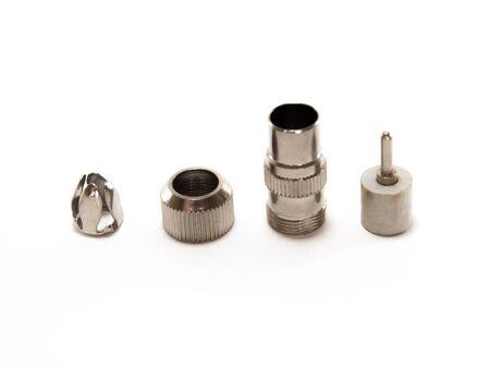 sattelite: joint for connection to sattelite Stock Photo
