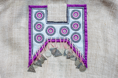 Hmongs Mountain People Hand Embroidery Pattern Stock Photo Picture