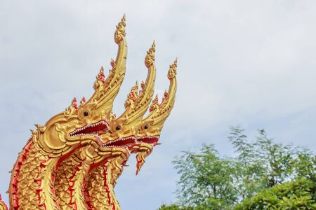 exquisite fairy: Great Serpent Thai northern style temple, Wat Non shatthatham, Thailand