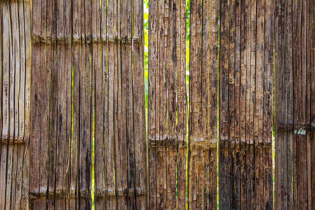 house walls: The old wooden house walls made of bamboo