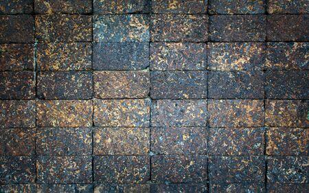 laterite: Laterite Brick wall texture. Antique Laterite brick wall Stock Photo