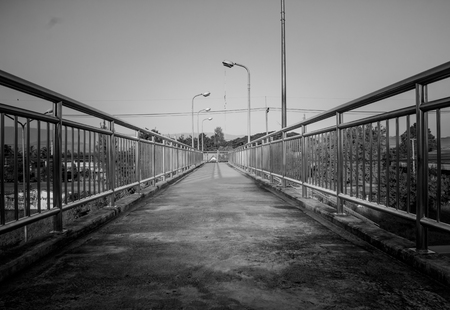 foot bridges: Pedestrian bridge made of stainless in country
