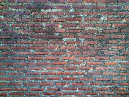 textured wall: Red brick wall Stock Photo