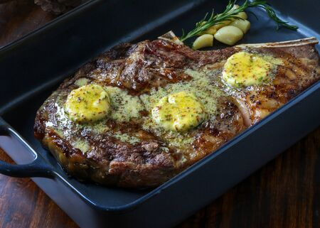 Delicious beef steak, Prime Rib Roast with Herbs and Spices