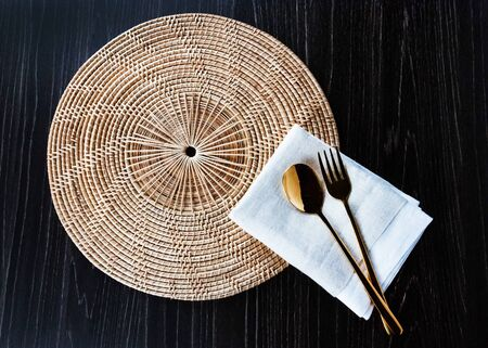 Kitchen table fork and Spoon dining dish