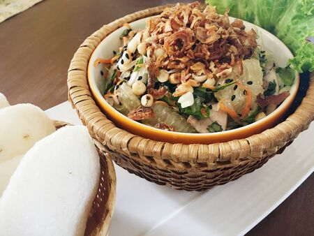 style: Grapefruit salad in Vietnamese style Stock Photo