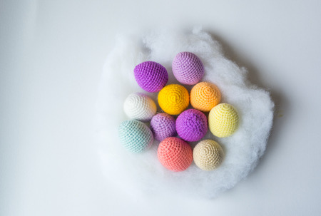 Handmade crochet  knitting yarns eggs