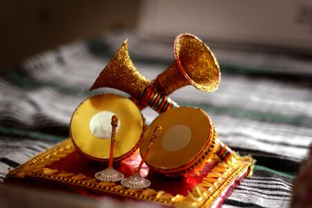 Small decorative items like this are used in most of Traditional Indian events 스톡 콘텐츠