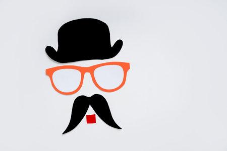 Concept of carnival festival : Multi color carnival mask and black mustache