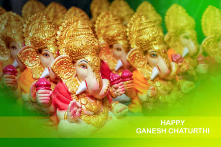 Celebrate lord ganesha festival. Lord ganesha colorful sclupture Reklamní fotografie