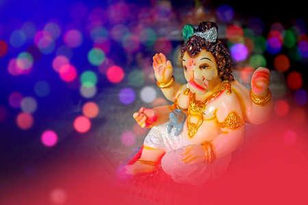 Celebrate lord ganesha festival. Lord ganesha colorful sclupture