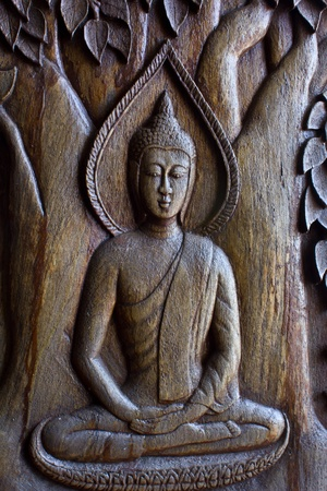 wood craft: Wood craft Lord Buddha in mediatation