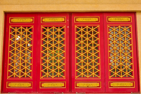 Doors in Chinese temple photo