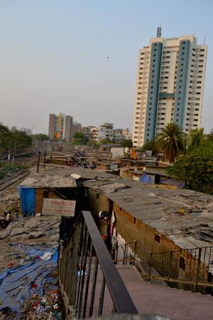 slum: Slum in Mumbai Editorial