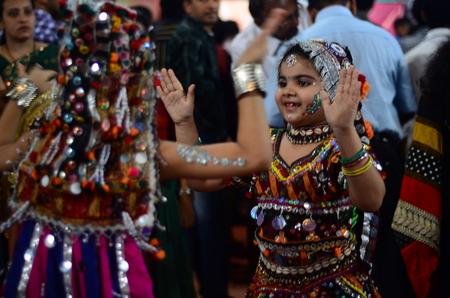 Kids doing Garba, Navratri Celebrations, Mumbai