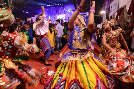 Garba dancers, Navratri Celebrations, Mumbai