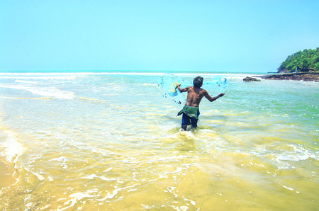 india fisherman: Fisherman, Agonda Beach, Goa, India