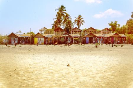 konkan: Beach Huts, Agonda Beach, Goa