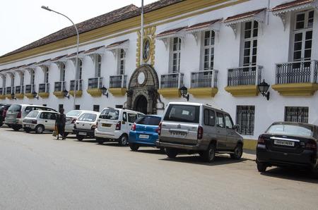 konkan: Portuguese style houses, Panjim City, Panjim, Goa, India
