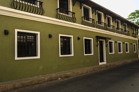konkan: Portuguese style houses, Panjim City, Panjim, Goa, India