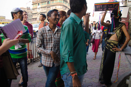 activism: A Participant of the Mumbai Pride Walk 2014