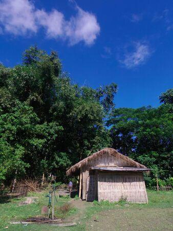 A bamboo hut in Majuli Island, Assam