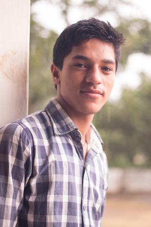 An Indian Boy in a village Editorial