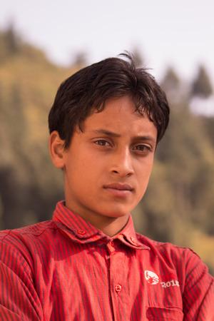A boy in an Indian Village