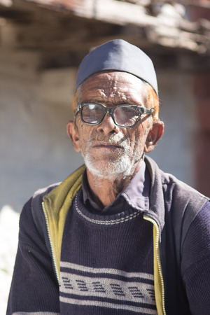 An old man in rural india