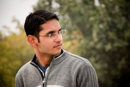 Handsome Indian man  photo
