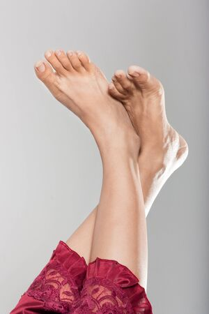 Beautiful clean female feet  photo