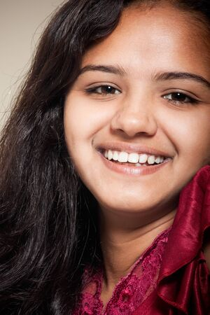 beautiful indian girl face: smile of beautiful Indian girl
