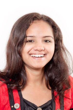 smile of beautiful Indian girl photo