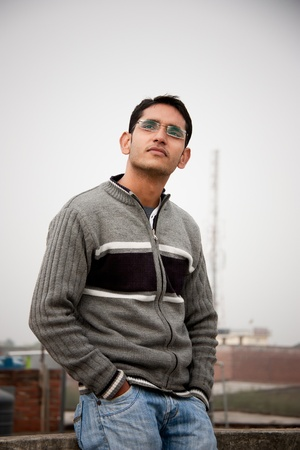 Handsome Indian man  photo