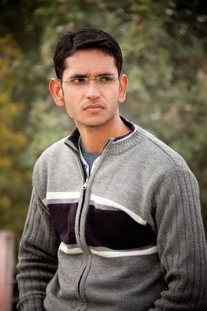 good mood: Handsome Indian man  Stock Photo
