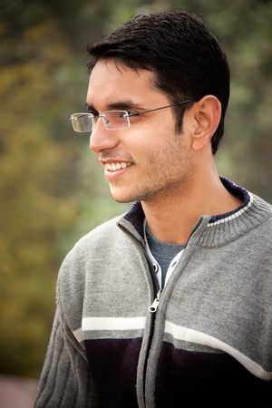 feels good: Handsome Indian man  Stock Photo