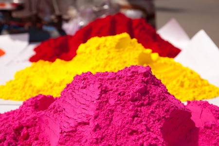 Different colors for sale in india on the occasion of holi  holli festival photo