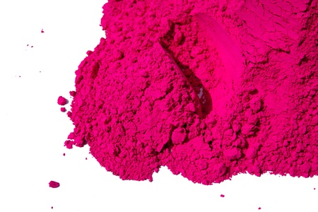 colorful holi: Detail of pink color for holi, sale in india on the occasion of holi  holli festival Stock Photo