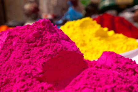 Different colors for sale in india on the occasion of holi  holli festival
