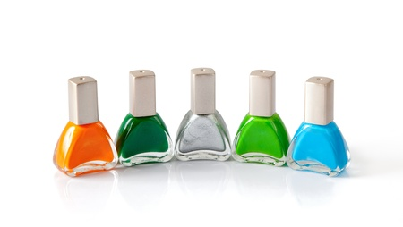 accesories: Nail polish in difference colors Stock Photo