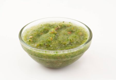 Green coriander sauce photo