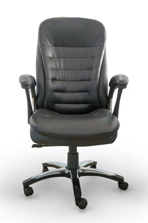 Boos office chair using black leather decoration Stock Photo - 15956072
